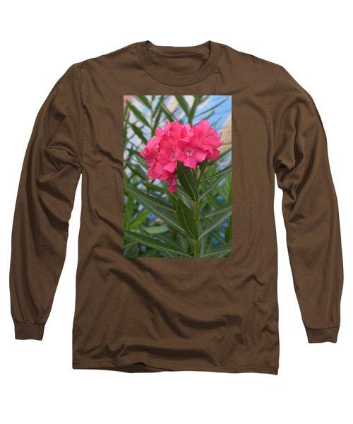 Beach Flower Long Sleeve T-Shirt by Deborah  Crew-Johnson