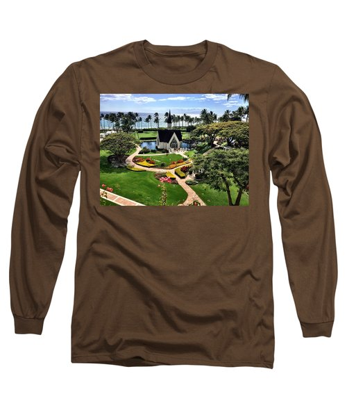 Long Sleeve T-Shirt featuring the photograph Beach Steeple by Michael Albright