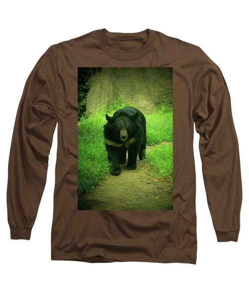 Bear On The Prowl Long Sleeve T-Shirt by Trish Tritz
