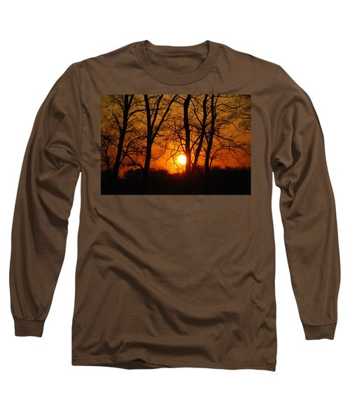 Beauatiful Red Sunset Long Sleeve T-Shirt