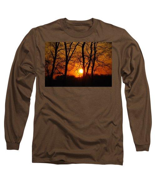 Beauatiful Red Sunset Long Sleeve T-Shirt