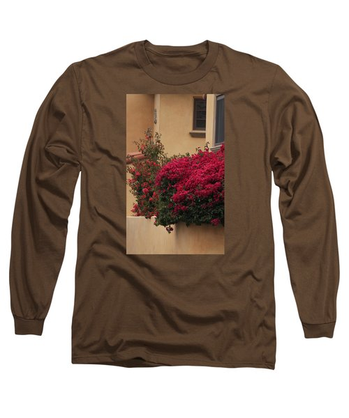 Beautiful Balcony With Bougainvillea Long Sleeve T-Shirt