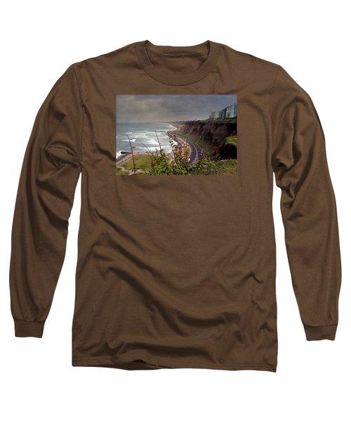 Beautiful Coastline Of Lima Long Sleeve T-Shirt