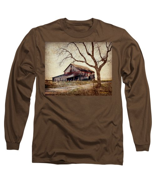 Beautiful Red Barn-near Ogden Long Sleeve T-Shirt by Kathy M Krause