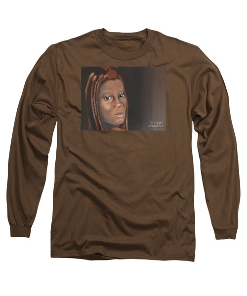 Long Sleeve T-Shirt featuring the painting Beauty by Annemeet Hasidi- van der Leij