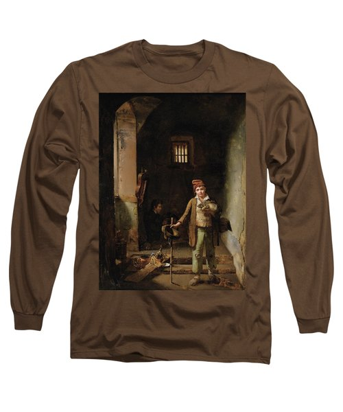 Bedroom Or The Little Groundhog Shower Long Sleeve T-Shirt by MotionAge Designs