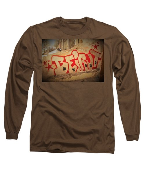 Beirut On A Graffiti Wall Long Sleeve T-Shirt