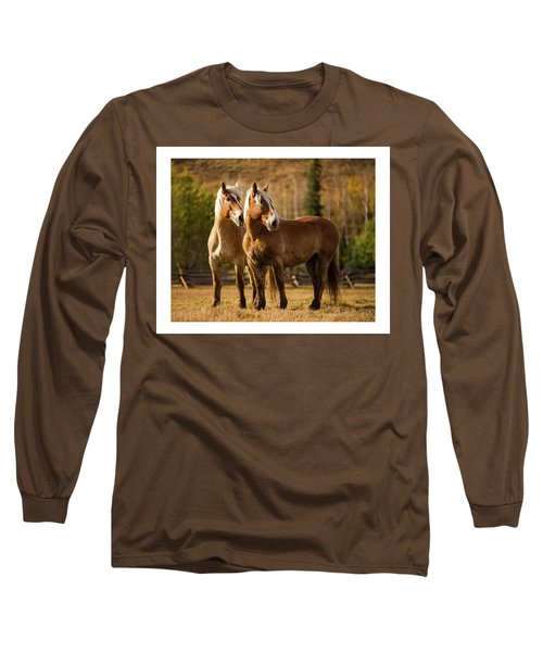 Belgian Draft Horses Long Sleeve T-Shirt by Sharon Jones