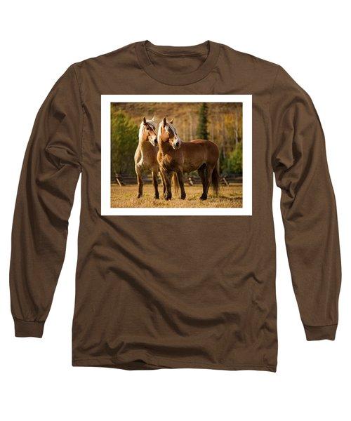 Belgian Draft Horses Long Sleeve T-Shirt
