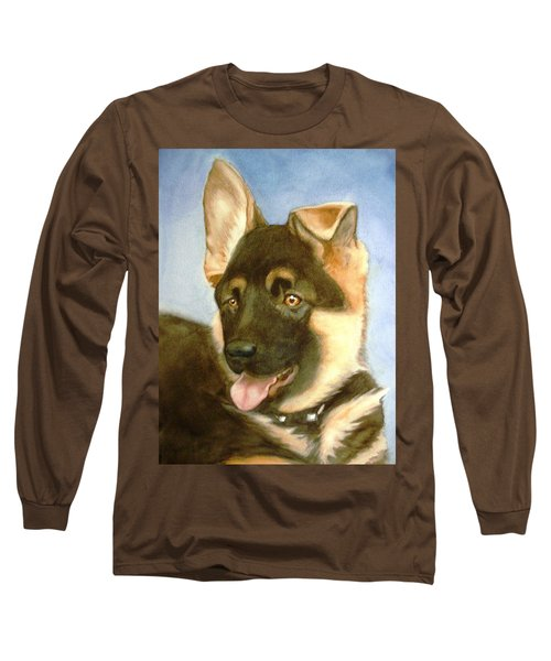 Long Sleeve T-Shirt featuring the painting Bella by Marilyn Jacobson