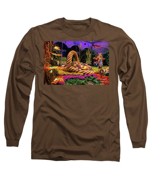 Bellagio Harvest Show Basket And Scarecrow 2016 Long Sleeve T-Shirt by Aloha Art