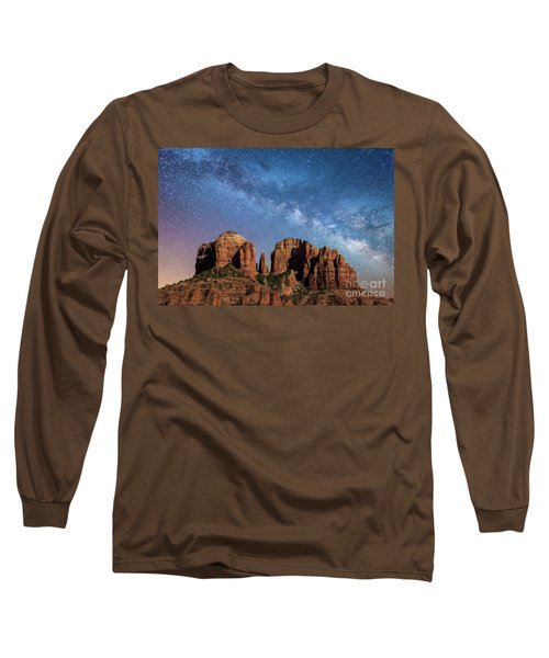 Below The Milky Way At Cathedral Rock Long Sleeve T-Shirt