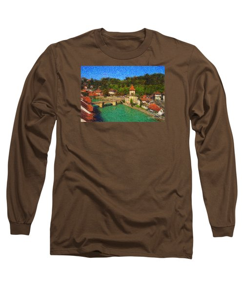 Bern On River Aare Long Sleeve T-Shirt