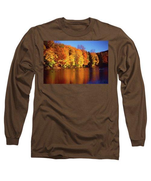 Bernharts Dam Fall 008 Long Sleeve T-Shirt