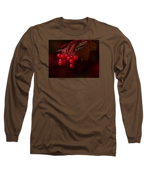 Long Sleeve T-Shirt featuring the photograph Berry Red by Judy  Johnson