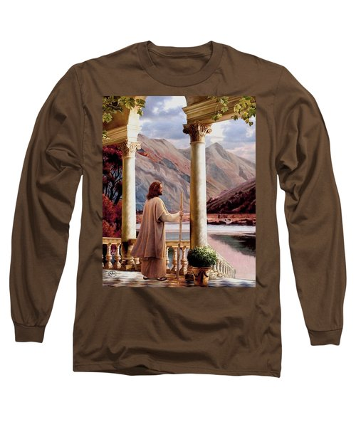 Beside Still Waters Vert Long Sleeve T-Shirt