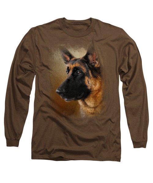 Best In Show - German Shepherd Long Sleeve T-Shirt by Jai Johnson