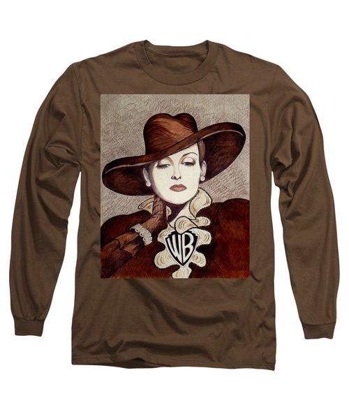 Bette Davis The Warner Brothers Years Long Sleeve T-Shirt by Tara Hutton