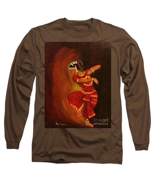 Bharatnatyam Dancer Long Sleeve T-Shirt