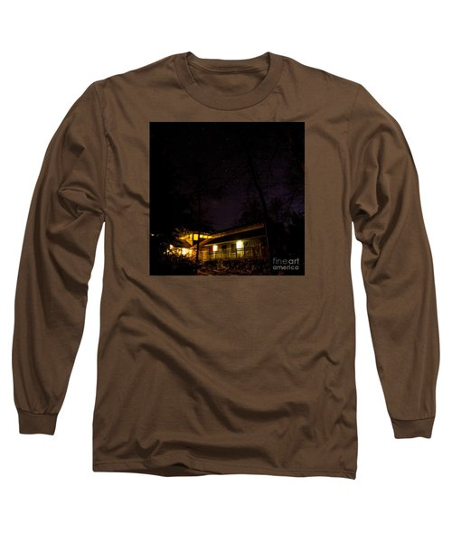 Big Dipper Over Hike Inn Long Sleeve T-Shirt by Barbara Bowen