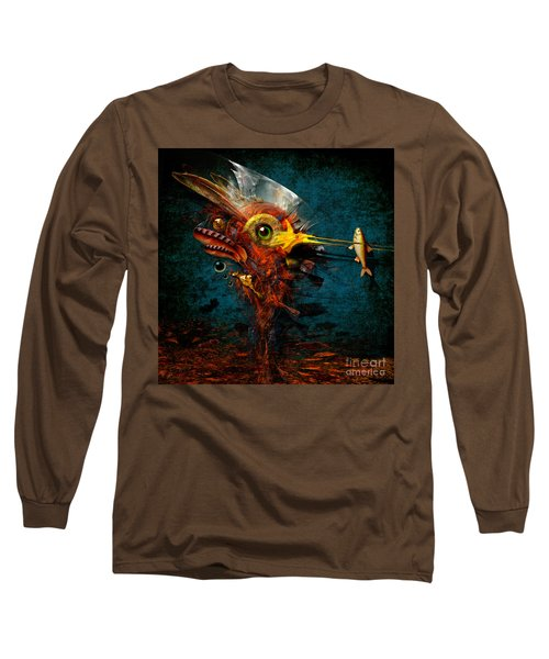 Long Sleeve T-Shirt featuring the painting Big Hunter by Alexa Szlavics