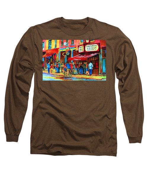 Biking Past The Deli Long Sleeve T-Shirt