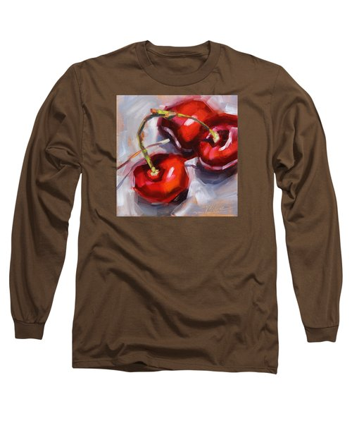 Bing Cherries Long Sleeve T-Shirt by Tracy Male
