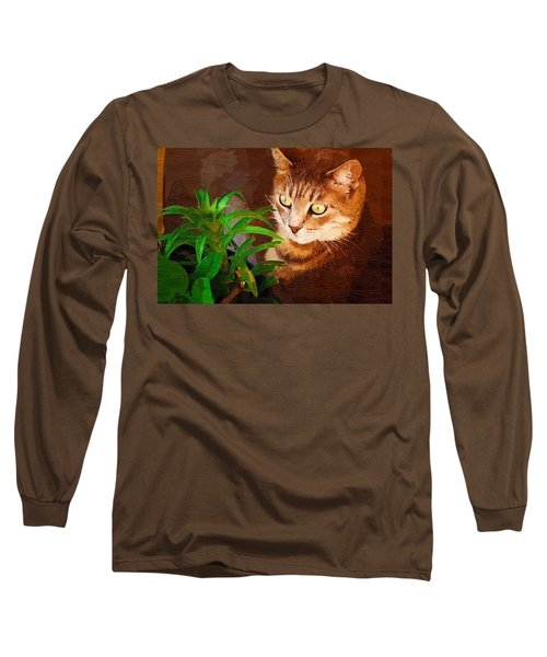 Long Sleeve T-Shirt featuring the photograph Bink by Donna Bentley
