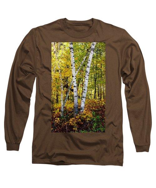 Birch In Gold Long Sleeve T-Shirt