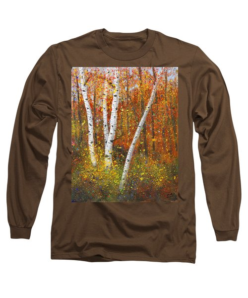 Birches Long Sleeve T-Shirt by Garry McMichael