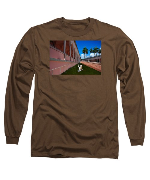 Long Sleeve T-Shirt featuring the photograph Bird In Flight by Harry Spitz