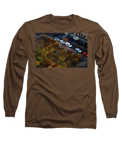 Bird's Eye Of A Berlin Street Long Sleeve T-Shirt by Ana Mireles