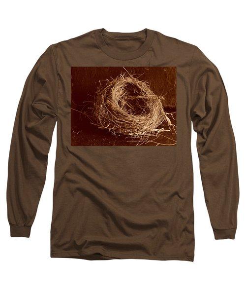 Bird's Nest Sepia Long Sleeve T-Shirt