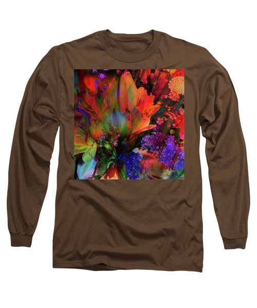 Birthday Flowers Long Sleeve T-Shirt