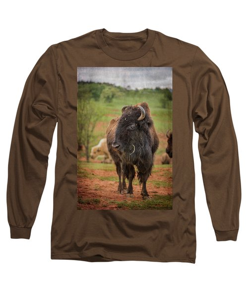 Long Sleeve T-Shirt featuring the photograph Bison 5 by Joye Ardyn Durham