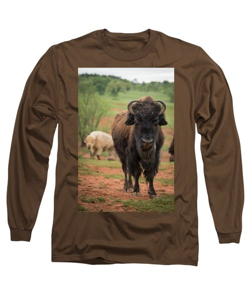 Long Sleeve T-Shirt featuring the photograph Bison 6 by Joye Ardyn Durham