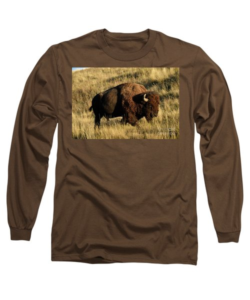 Bison  Long Sleeve T-Shirt by Cindy Murphy - NightVisions