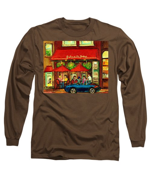 Bistro On Greene Avenue In Montreal Long Sleeve T-Shirt