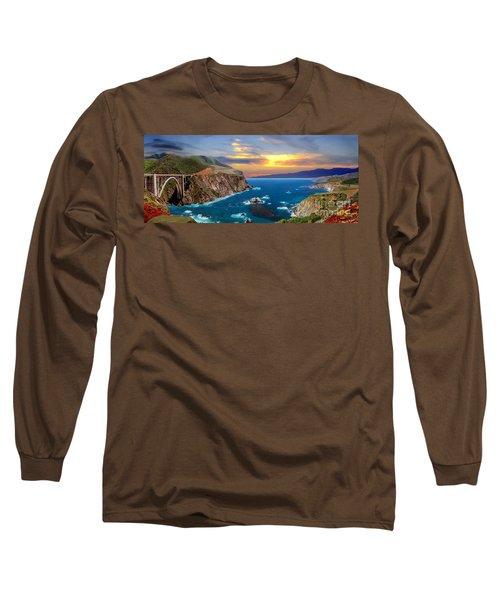 Long Sleeve T-Shirt featuring the photograph Bixby Creek Bridge by David Zanzinger