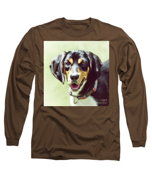 Long Sleeve T-Shirt featuring the digital art Black And Tan by Lois Bryan