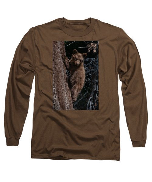 Black Bear Cub Sequoia National Park Long Sleeve T-Shirt