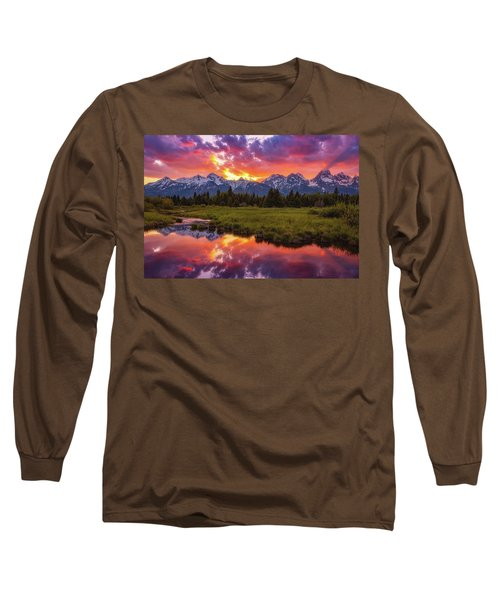 Black Ponds Sunset Long Sleeve T-Shirt