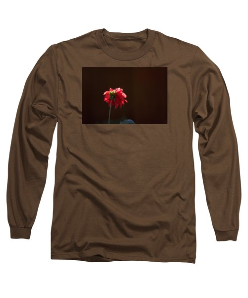 Long Sleeve T-Shirt featuring the photograph Black With Rose by Lora Lee Chapman