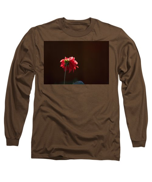 Black With Rose Long Sleeve T-Shirt