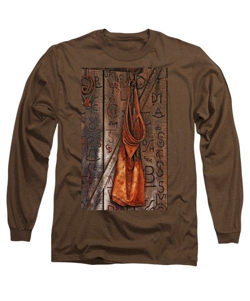 Blacksmith Apron Long Sleeve T-Shirt by Rowana Ray
