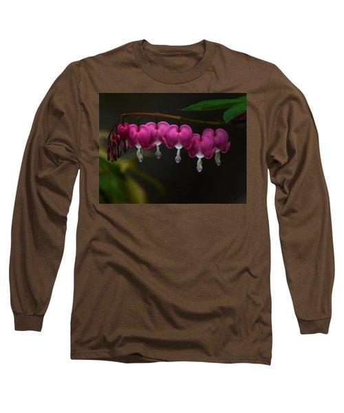 Bleeding Hearts Long Sleeve T-Shirt by Keith Boone