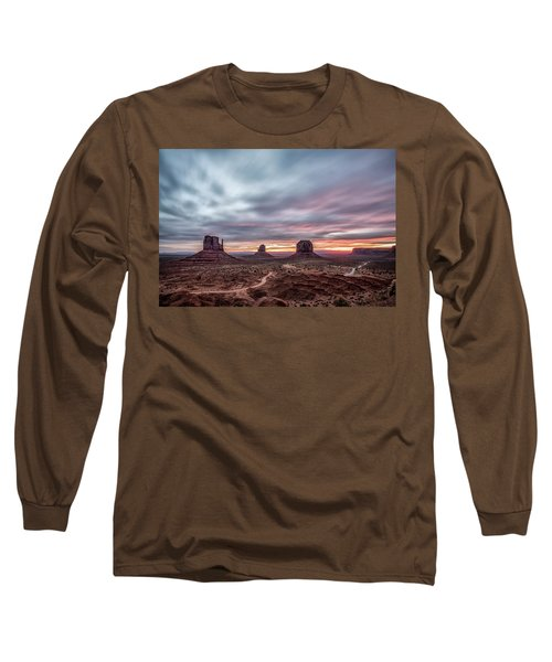 Blended Colors Over The Valley Long Sleeve T-Shirt by Jon Glaser