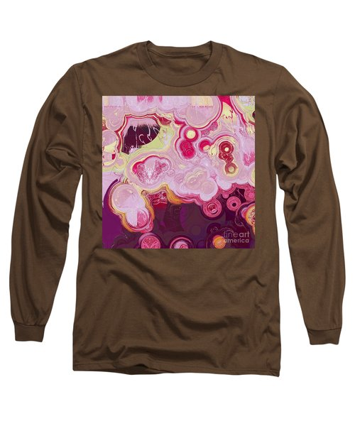 Long Sleeve T-Shirt featuring the digital art Blobs - 15c7b by Variance Collections