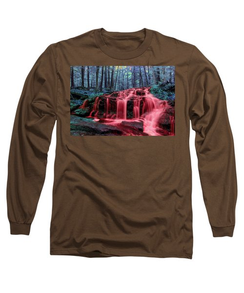 Long Sleeve T-Shirt featuring the photograph Blood Falls 1 by Brian Hale