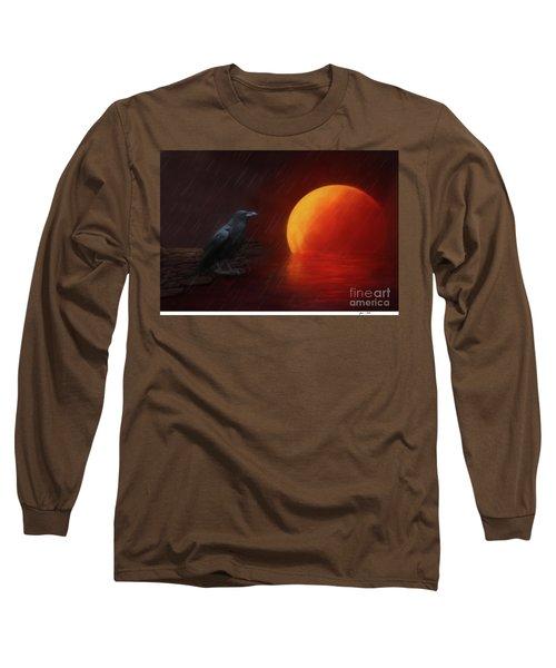 Blood Moon Crow Long Sleeve T-Shirt